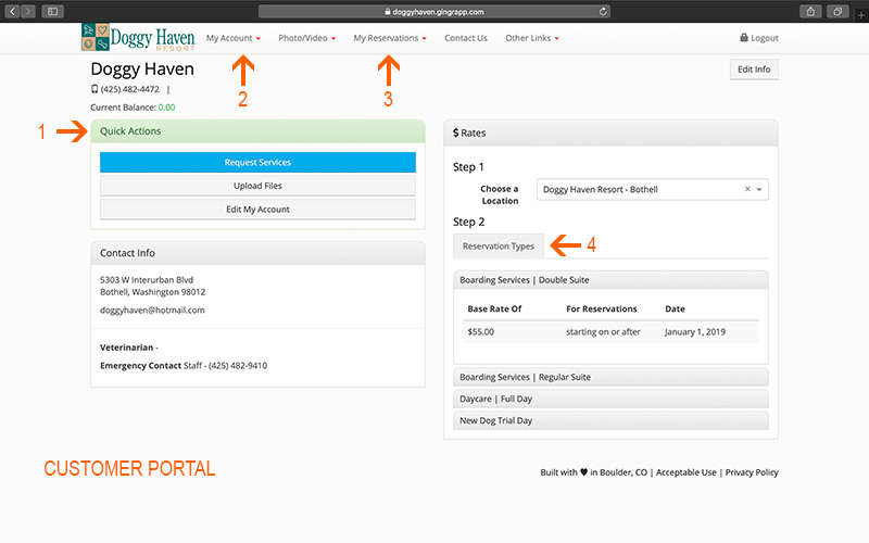 Customer Portal with Notations